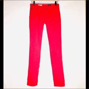 AG Adriano Goldschmied Red Stilt Cigarette Jeans